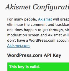 Akismet Configuration